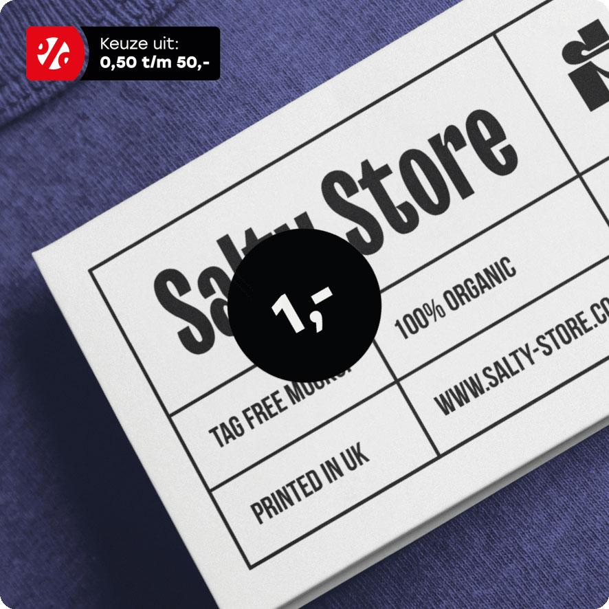 Prijssticker zwart rond 15mm hangtag