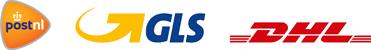 Verzending: PostNL, GLS, DHL