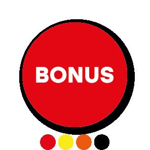 Bonus stickers rond 30mm