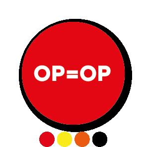 OP=OP stickers rond 30mm