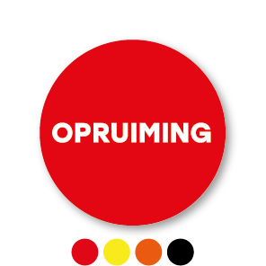 Opruiming stickers rond 30mm