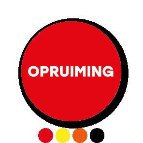 Opruiming stickers zwart-wit rond 30mm