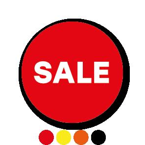 Sale stickers oranje-wit rond 30mm