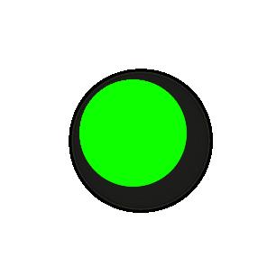 Blanco stickers fluor groen rond 15mm