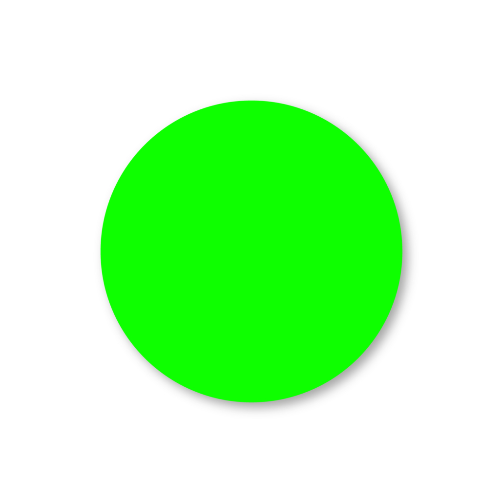 Blanco stickers fluor groen rond