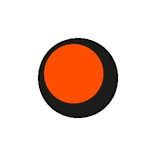 Blanco stickers fluor oranje rond 15mm