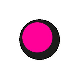 Blanco stickers fluor roze rond 15mm