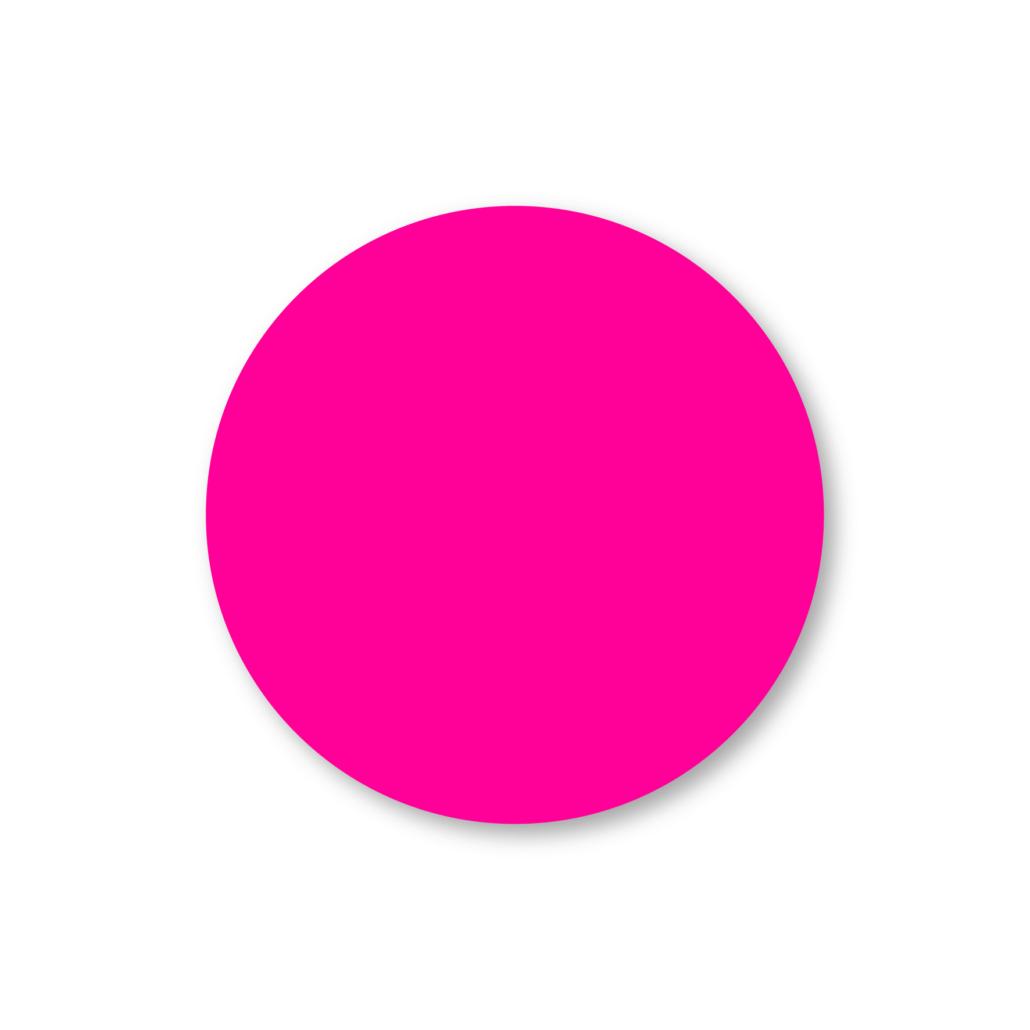 Blanco stickers fluor roze rond