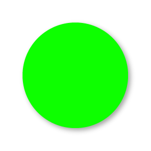 Blanco stickers fluor groen rond 30mm