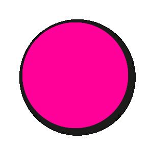 Blanco stickers fluor roze rond 30mm
