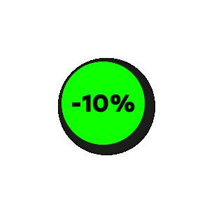 Kortingsstickers fluor groen-zwart rond 15mm