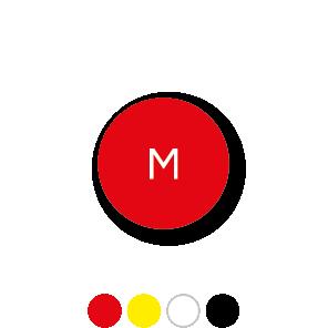 Maatstickers M rond 15mm