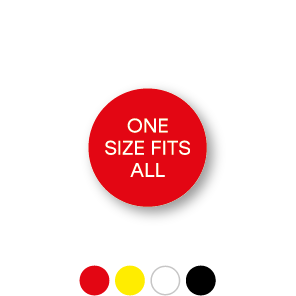 Maatstickers ONE SIZE FITS ALL rond 15mm