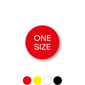 Maatstickers ONE SIZE rond 15mm