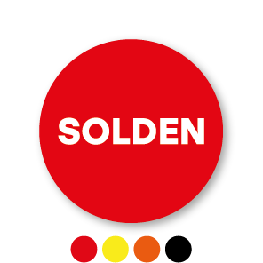 Solden stickers rond 15mm